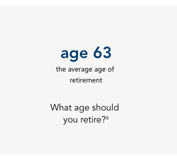 63, the average age of retirement.